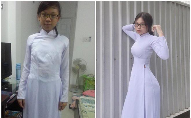 Xuất hiện trong tà áo dài, nữ sinh 16 tuổi gây chú ý vì vóc dáng nóng bỏng: Màn dậy thì xuất sắc