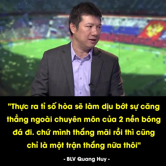 BLV Quang Huy và câu nói cực chất ngay sau trận đấu khiến dân mạng chia sẻ rần rần - Ảnh 1.