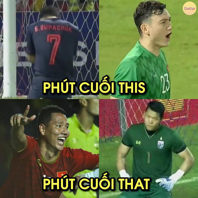 Quế Ngọc Hải lạnh lùng làm dấu suỵt khi cầu thủ Thái Lan lao vào tranh cãi - Ảnh 3.