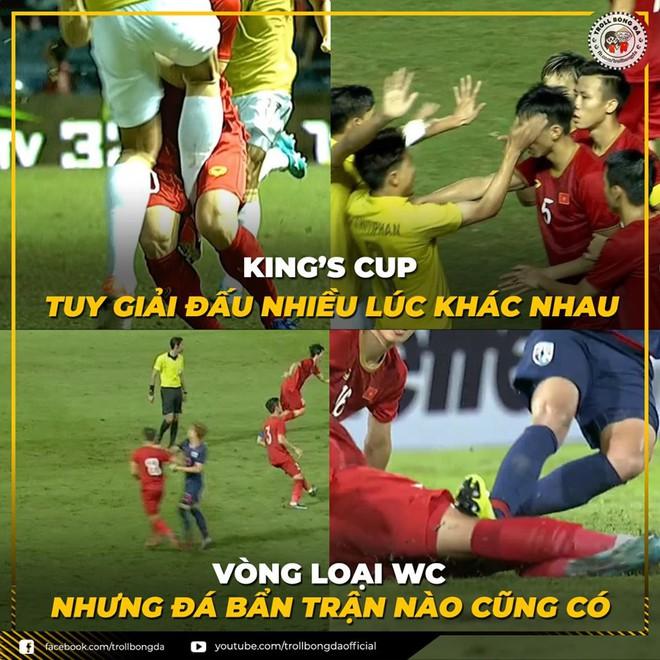 Quế Ngọc Hải lạnh lùng làm dấu suỵt khi cầu thủ Thái Lan lao vào tranh cãi - Ảnh 5.