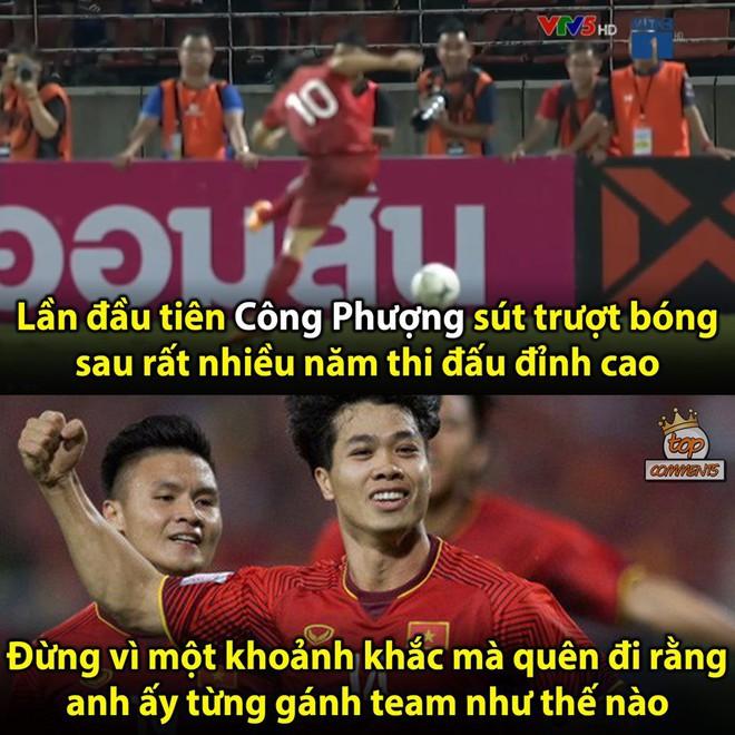 Quế Ngọc Hải lạnh lùng làm dấu suỵt khi cầu thủ Thái Lan lao vào tranh cãi - Ảnh 6.