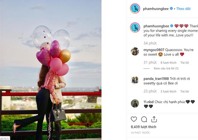 Phạm Hương bất ngờ công khai ảnh hôn bạn trai, đắm chìm trong hạnh phúc - Ảnh 4.