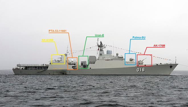 Thấy vũ khí trên tàu Gepard Nga, ngỡ ngàng về sức mạnh Tàu 016 Quang Trung của HQVN - Ảnh 6.