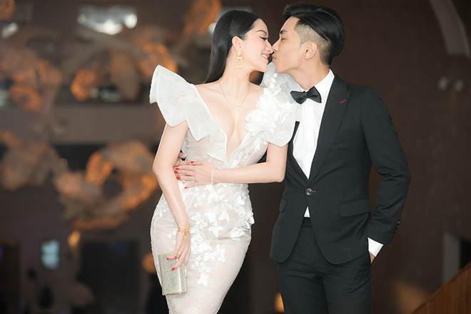 Vợ chồng Khánh Thi tình tứ dự đám cưới 'ái nữ' đại gia Minh Nhựa - Ảnh 3.