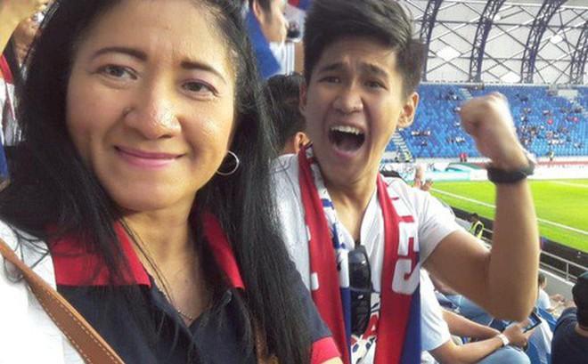 Tìm ra người mẹ của năm, đưa con trai vừa tốt nghiệp cấp 3 vượt 7.000 km sang Dubai xem Asian Cup 2019