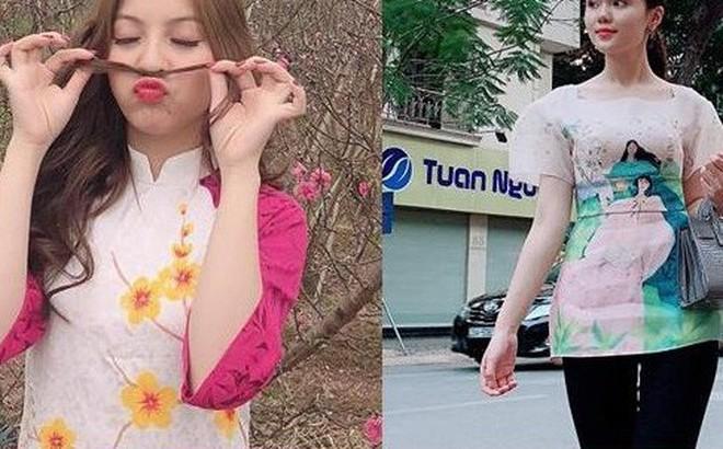 Nhật Lê, Quỳnh Anh và hội 'chân dài' của ĐT Việt Nam hóa 'thiên thần' với áo dài, bà ba đón Tết