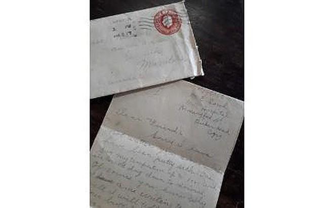 Tìm thấy bức thư thời Chiến tranh Thế giới thứ I trong... tập giấy cũ