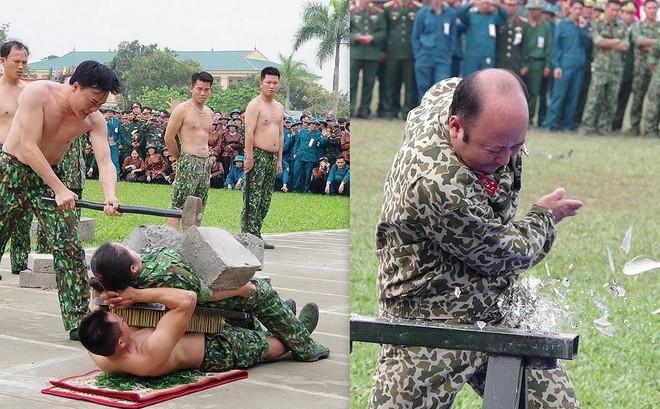 Đại đội Trinh sát 20 và đặc nhiệm Biên phòng đua tài võ nghệ, khí công