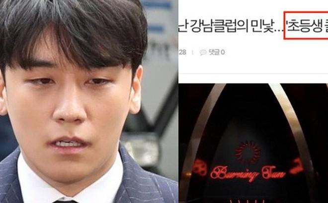 Không thể tin nổi: MBC tung tin club Burning Sun của Seungri dẫn mối cả gái gọi là học sinh tiểu học?