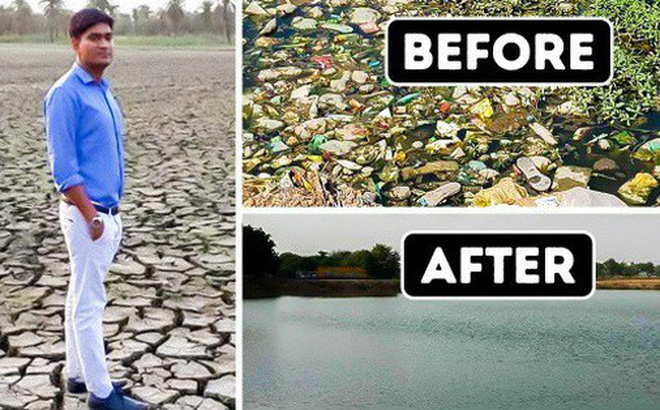 Chàng trai dành cả thanh xuân để hồi sinh mọi hồ nước tại Ấn Độ: Thế giới thực sự cần thêm nhiều người như anh