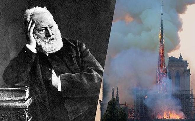 """Nhà thờ Đức Bà Paris cháy như """"lời tiên tri"""" trong tác phẩm của Hugo"""