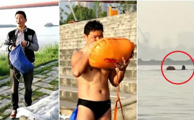 Ông chú 53 tuổi chiến thắng bệnh tiểu đường, bơi 2,2 km vượt sông Dương Tử đi làm mỗi ngày trong 11 năm