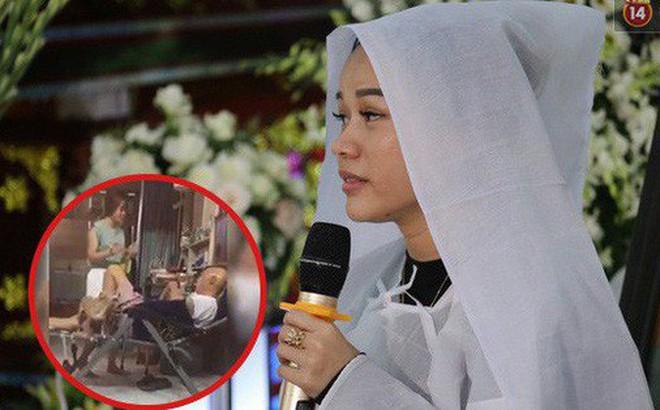 """Con gái nghệ sĩ Lê Bình chia sẻ khoảnh khắc hạnh phúc khi chăm sóc ba lúc sinh thời kèm lời nhắn nhủ: """"Con nhớ ba"""""""