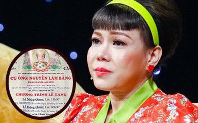 Bố nghệ sĩ Việt Hương qua đời, nhiều bạn bè, đồng nghiệp gửi lời chia buồn