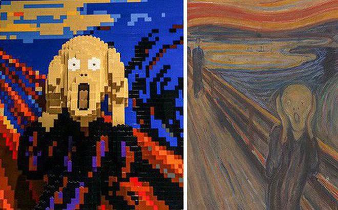 """Kết quả bất ngờ khi """"LEGO hóa"""" những tác phẩm nghệ thuật kinh điển"""