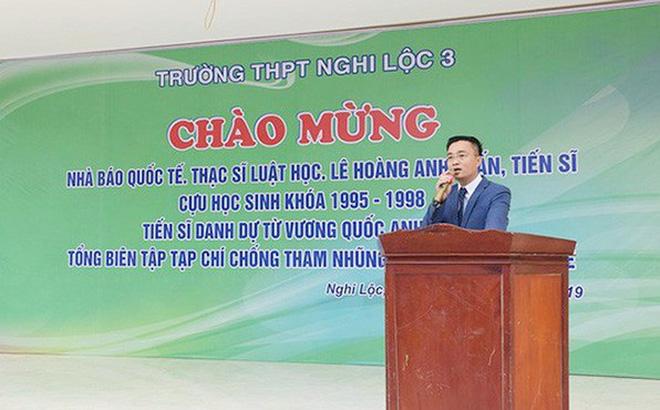 Học viện Báo chí và Tuyên truyền phủ nhận tin 'nhà báo quốc tế' Lê Hoàng Anh Tuấn là giảng viên của trường