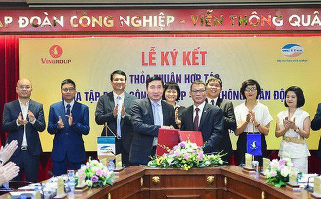 Hai tập đoàn lớn nhất Việt Nam Vingroup và Viettel bắt tay hợp tác