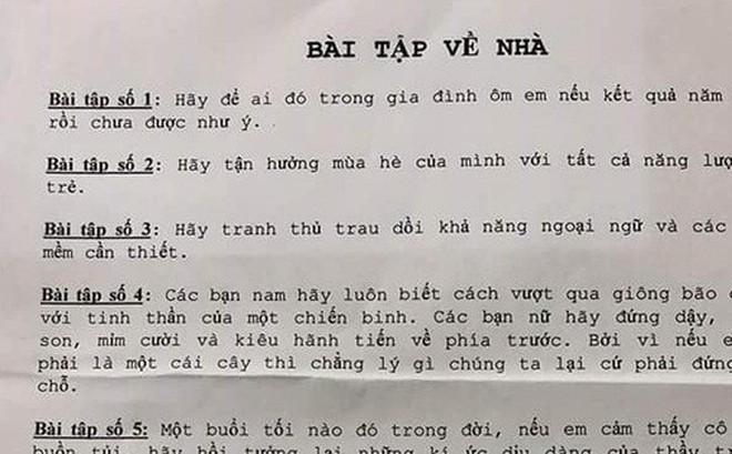 """""""Hãy cứ gọi cho thầy, thầy vẫn luôn ở đây"""", 6 bài tập về nhà của thầy giáo Sài Gòn khiến học sinh bật khóc nức nở"""