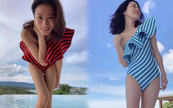 """Khoe ảnh bikini tuổi 44, Xa Thi Mạn khiến fan """"xuýt xoa"""" như gái đôi mươi"""