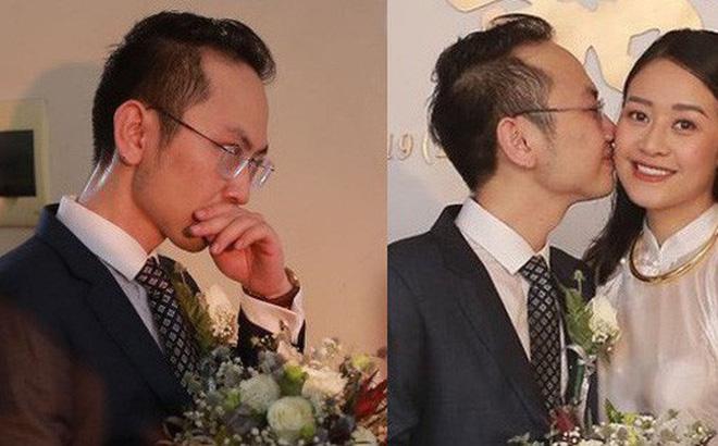 Chồng sắp cưới xúc động, dành nụ hôn tình cảm cho MC Phí Linh trong đám hỏi