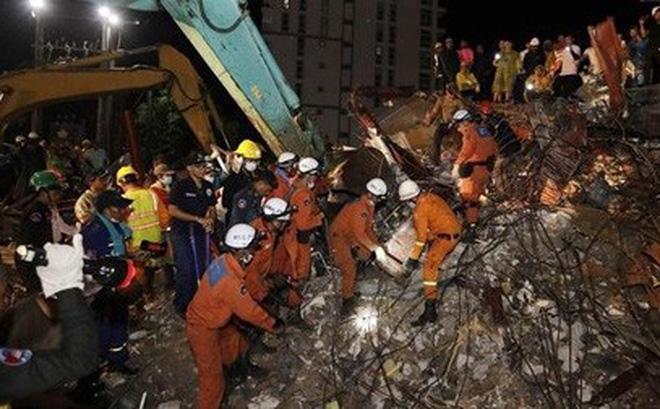 Vụ sập nhà tại Campuchia: Thêm hàng chục người thiệt mạng