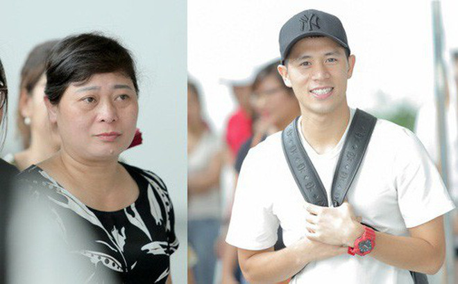 Mẹ Đình Trọng kìm nén nước mắt ở sân bay, nghẹn ngào khi tiễn hai cậu con trai ra nước ngoài