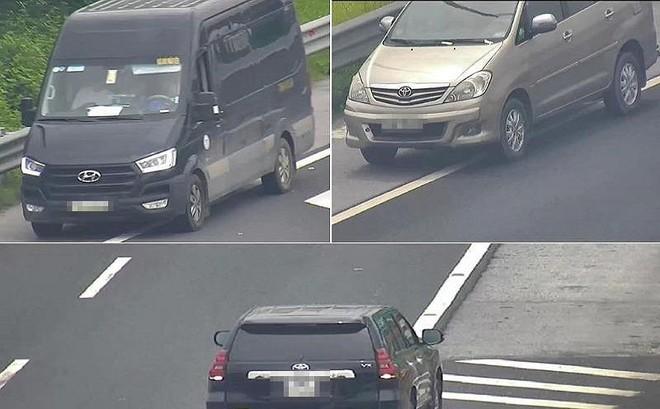 Chỉ trong buổi sáng, 3 ô tô chạy lùi trên cao tốc