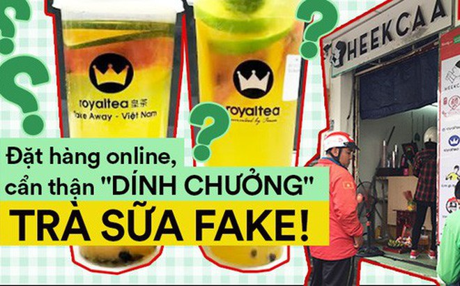 """Uống thử trà sữa... """"Fake"""" ẩn mình sau các ứng dụng đặt hàng online, pha chế thủ công và giá chỉ bằng 1/2 hàng thật"""