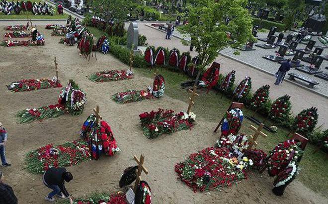 Đưa 14 thủy thủ thiệt mạng trong vụ cháy tàu ngầm Nga về đất mẹ