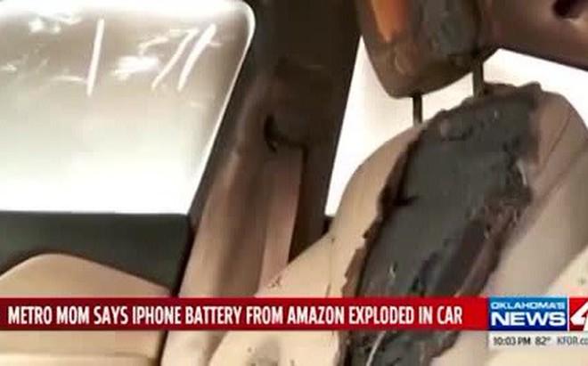 iPhone bất ngờ phát nổ gây hư hại cho chiếc Jeep Cherokee 2019
