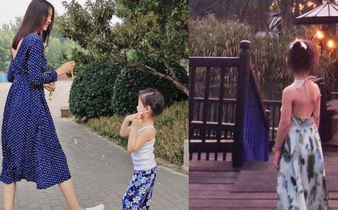 Cô con gái 3 tuổi của Hoa hậu Thế giới Trương Tử Lâm gây sốt: Chân dài miên man, tương lai nối nghiệp Hoa hậu của mẹ