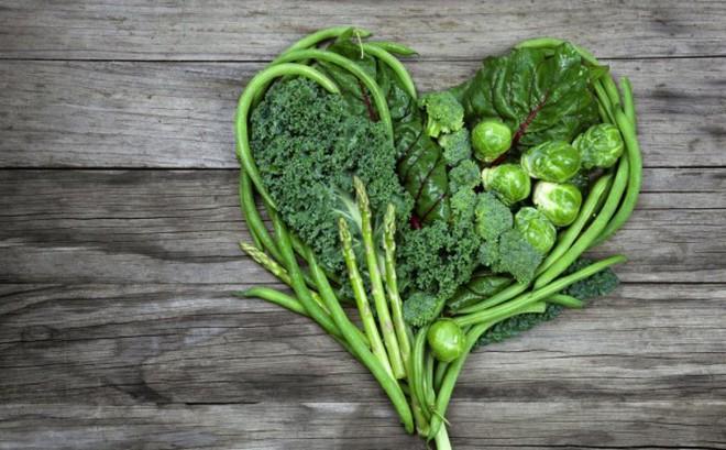 Các loại rau lá xanh giúp tim khỏe
