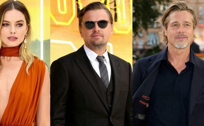 """Thảm đỏ """"Once Upon a Time"""": Bộ đôi tài tử Leonardo - Brad Pitt bảnh bao bên """"Harley Quinn"""" đẹp xuất sắc, dàn sao mặc lố lại là tâm điểm"""