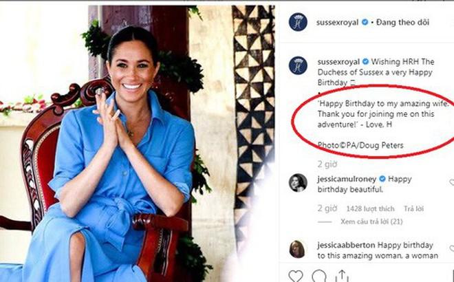 Hoàng tử Harry khiến người hâm mộ lịm tim với lời chúc mừng sinh nhật đầy ngọt ngào gửi đến vợ, Meghan Markle sẽ đón tuổi mới tại nơi đặc biệt
