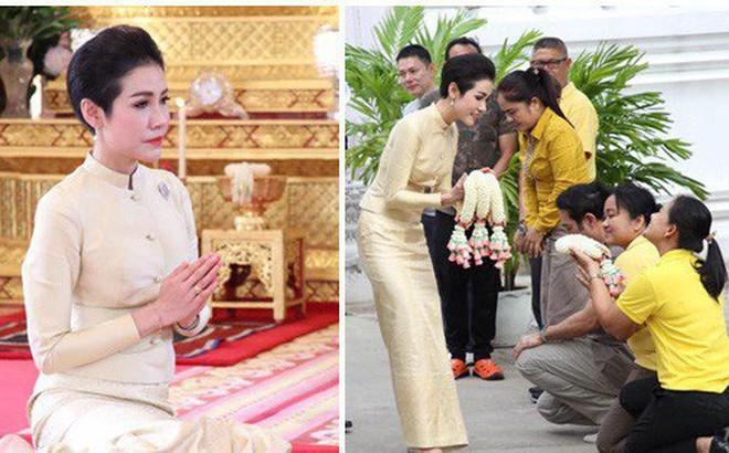 Hoàng quý phi Thái Lan thực hiện nhiệm vụ hoàng gia đầu tiên trên cương vị mới với phong thái gây ngỡ ngàng