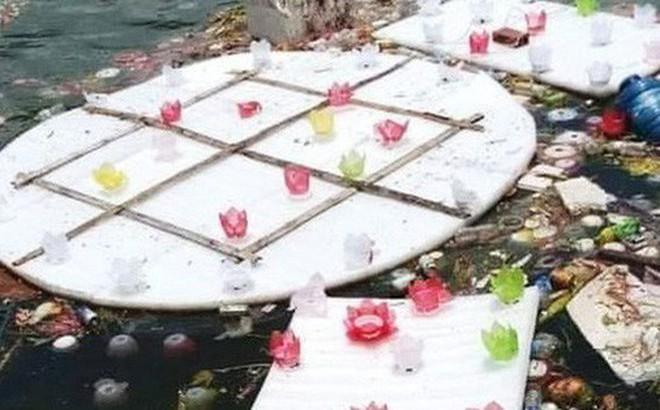 Xôn xao vụ 30.000 hoa đăng thả xuống vịnh Lan Hạ gây ô nhiễm