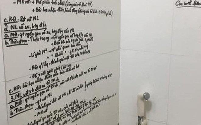 """Khi bạn """"có chuyện phải giải quyết"""" mà vẫn muốn kiểm tra điểm cao, học ngay cách ôn bài trong nhà vệ sinh cực bá đạo này"""