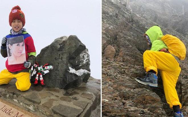 Cậu bé 8 tuổi chinh phục đỉnh núi cao 3952m để hoàn thành tâm nguyện cuối cùng của mẹ