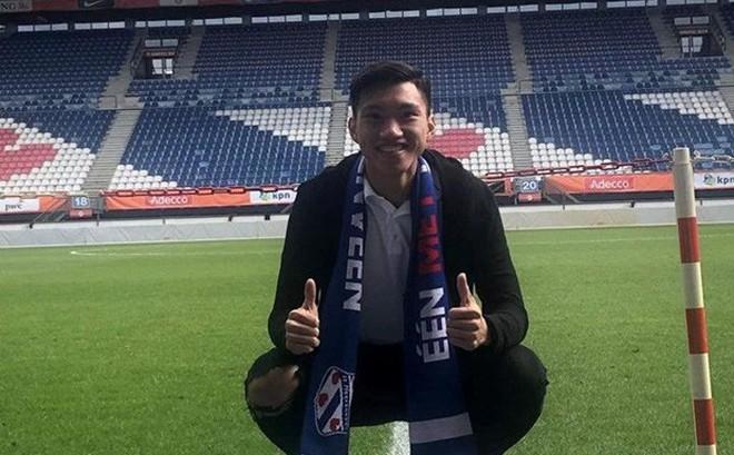 Hậu vệ Đoàn Văn Hậu đã có mặt tại câu lạc bộ SC Heerenveen