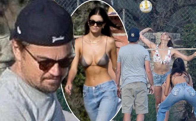 Bạn gái kém 22 tuổi của Leonardo DiCaprio mặc áo bơi bé xíu, khoe ngực gợi cảm