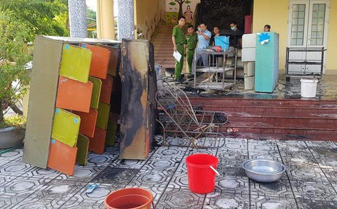 Cháy ở trường mầm non, cô giáo đưa hơn 100 học sinh tháo chạy