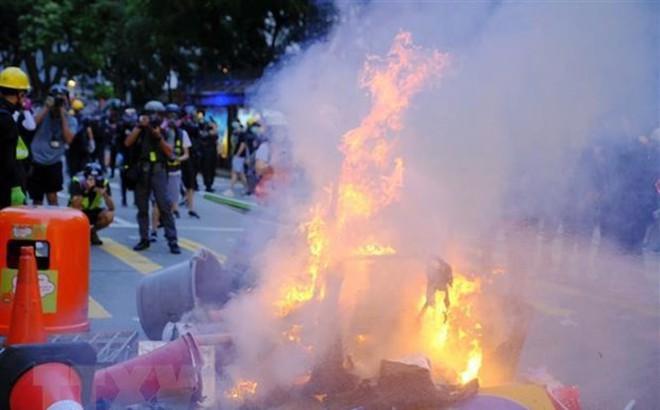 Chính quyền Hong Kong lên án hành vi bạo lực của người biểu tình