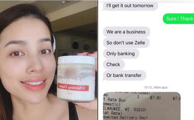 Đùng đùng 'bóc phốt' nhãn kem của Phạm Hương ép khách lấy hàng, cô gái để lộ bằng chứng order cho sang mồm rồi 'bom'