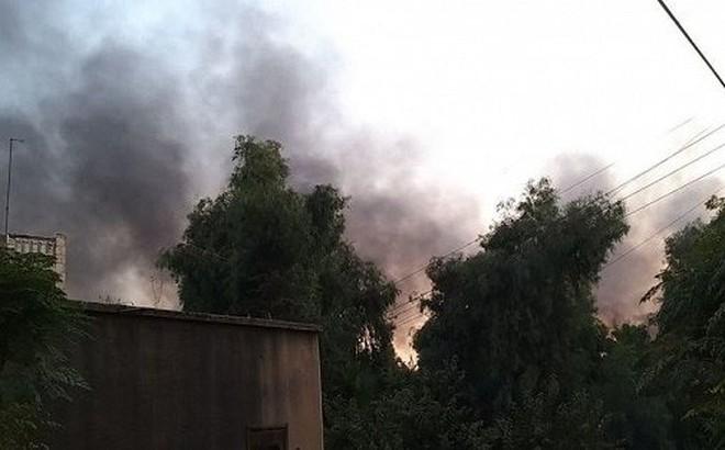 Video: Thị trấn Syria khói đen ngút trời sau đợt không kích của Thổ Nhĩ Kỳ