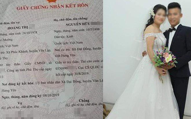 Mới đây, tờ giấy chứng nhận đăng ký kết hôn của cặp đôi đũa lệch