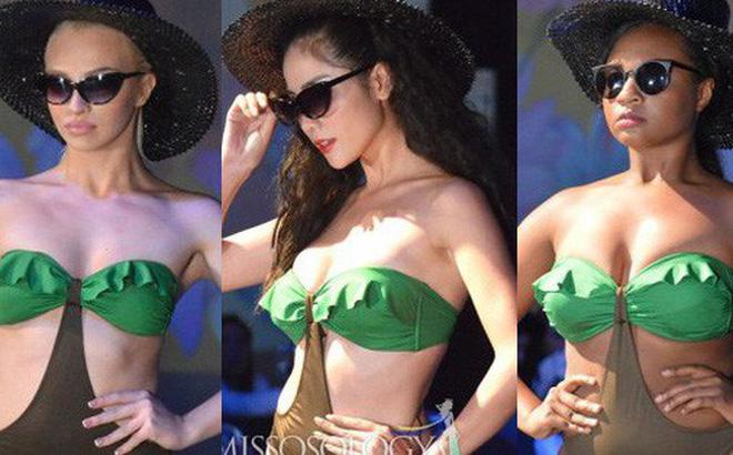 Hoàng Hạnh diện bikini đọ dáng bên dàn thí sinh Miss Earth ngấn mỡ nhưng vẫn chưa tạo nên kỳ tích!