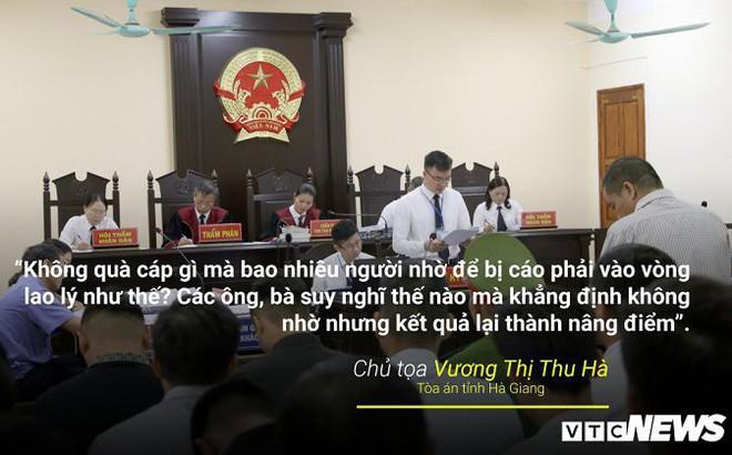 Infographic: Những phát ngôn dậy sóng dư luận trong phiên xử vụ án nâng điểm thi ở Hà Giang