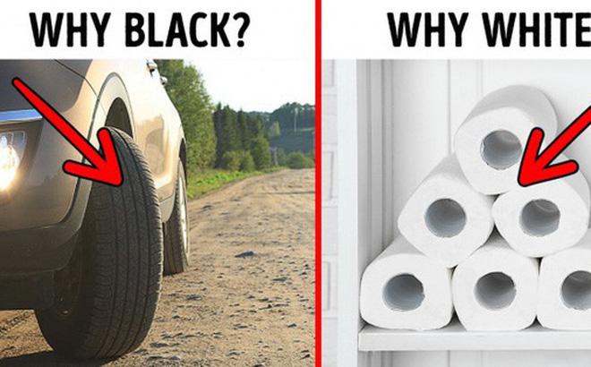 Tại sao lốp xe màu đen mà giấy vệ sinh phải có màu trắng? Đây là lý do tại sao 9 thứ quen thuộc này phải có những màu sắc đặc biệt của riêng mình