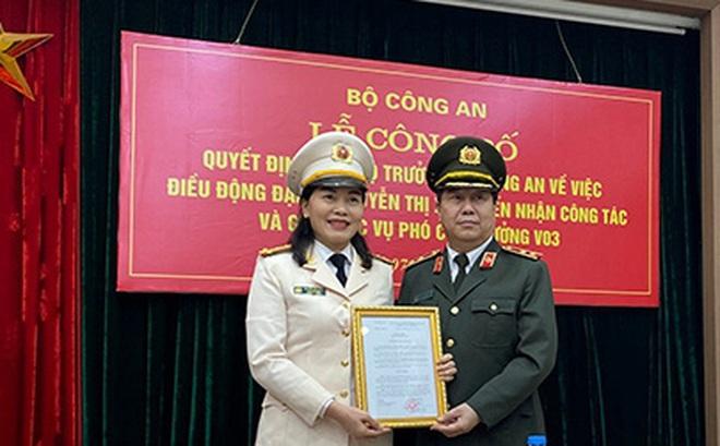 Bổ nhiệm nữ đại biểu Quốc hội giữ chức Phó Cục trưởng Công an