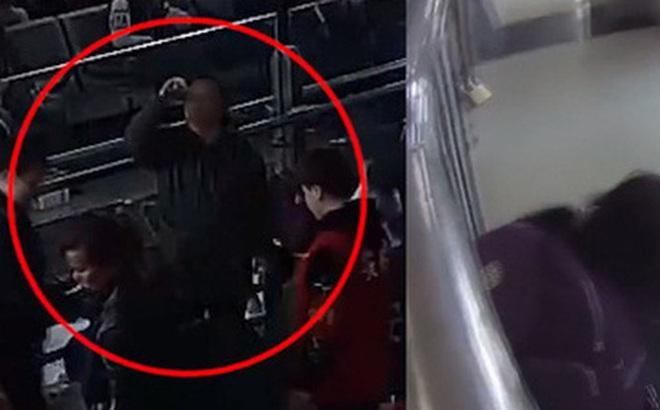 Bị chặn không cho mang rượu lên tàu, người phụ nữ đứng nép sang một bên uống sạch khiến mọi người vừa giận vừa thương